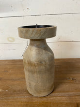 "Load image into Gallery viewer, 8"" Wood Candle Stand"