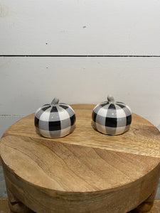 Black & White Salt & Pepper Shakers