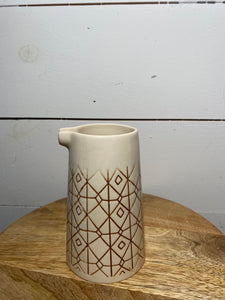 Brown Pattern Creamer