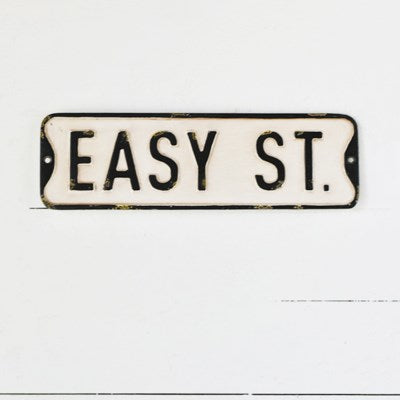 EASY ST. STREET SIGN