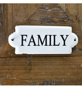 Small Family Tin Sign