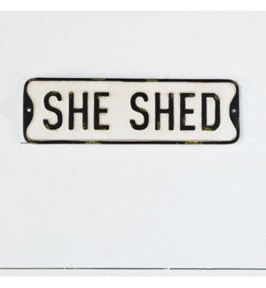 She Shed Street Sign