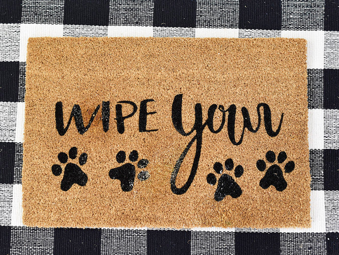 WIPE PAWS DOOR MAT