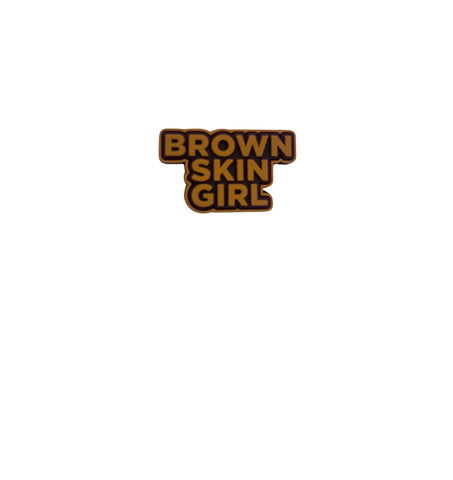 Brown Skin Girl Croc Charm
