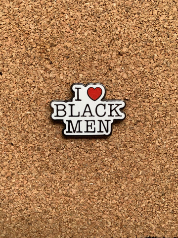 I Love Black Men Pin