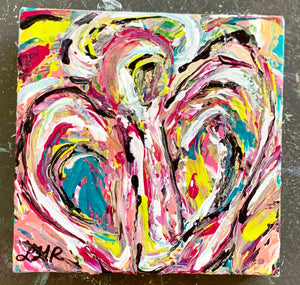 Dream a little ART | Angel Abstract | Leah G Richardson | Colorful Angel Art | Southern Artist | Columbia | Greenville | Charleston