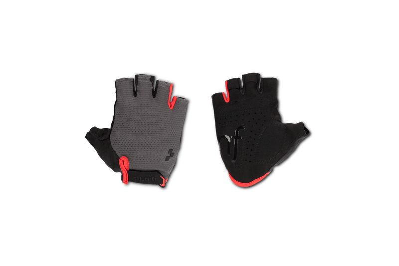 Guantes CUBE Natural Fit Short Finger grey´n´red