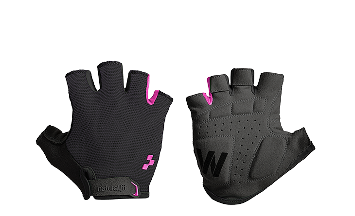 Guantes CUBE Natural Fit WS Short Finger black´n´pink
