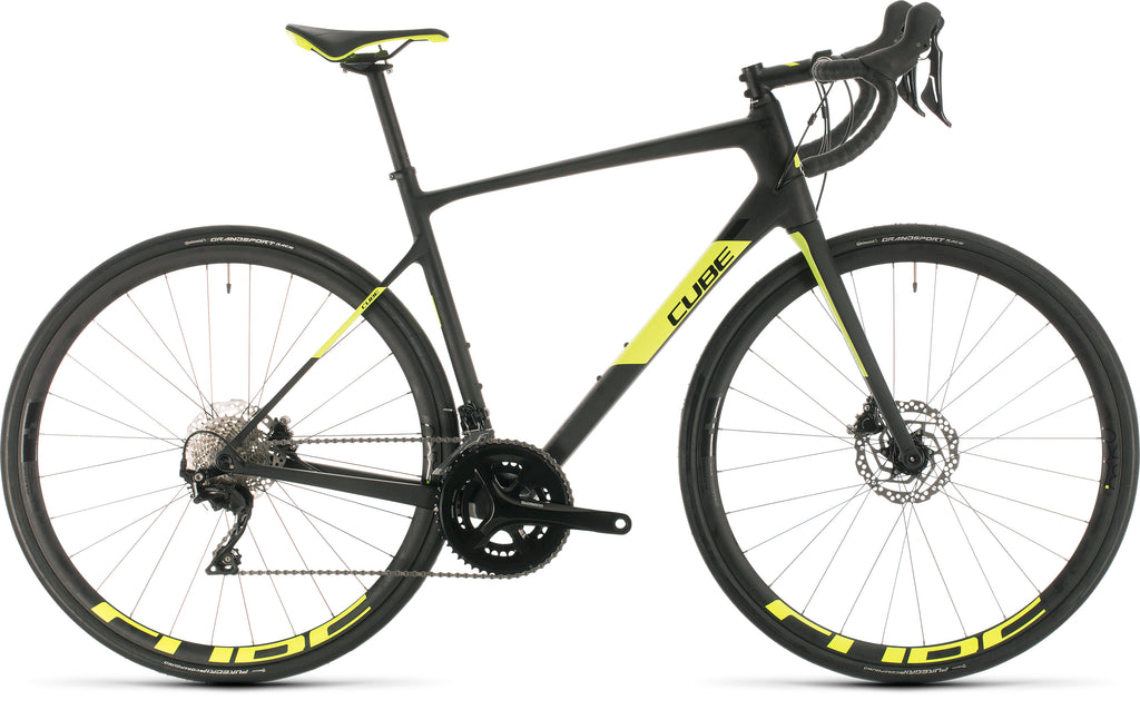 CUBE Attain GTC Race carbon'n'flashyellow 2020