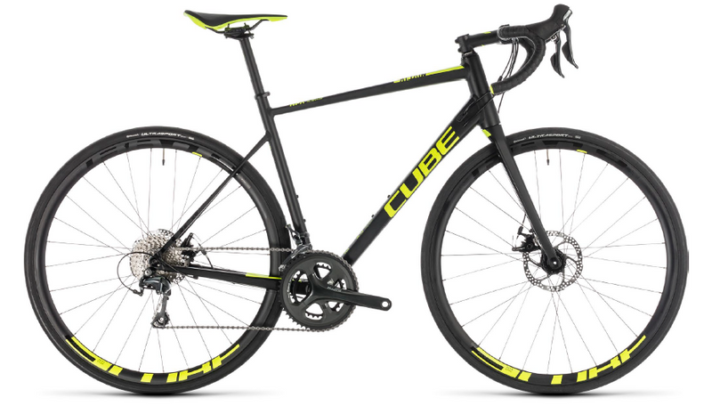 CUBE Attain Race Disc black'n'flashyellow 2019