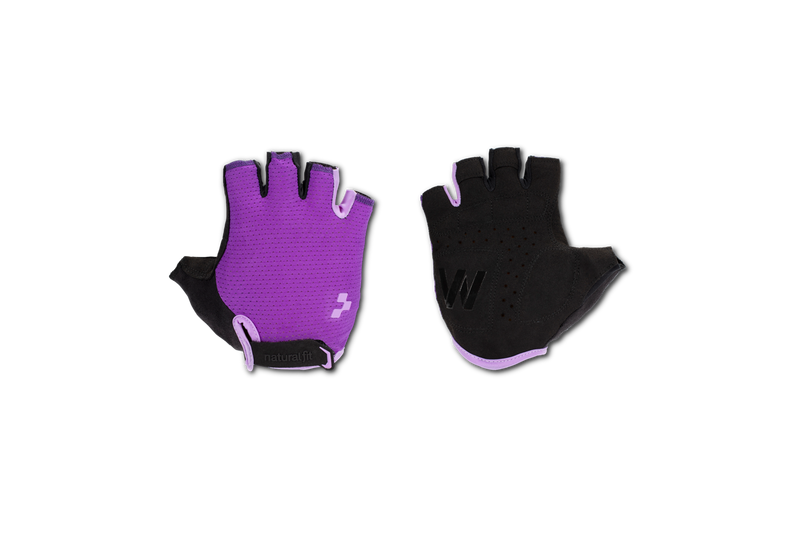 Guantes CUBE Natural Fit WS Short Finger violet´n´purple