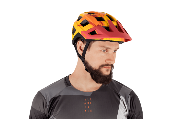 Casco BADGER Orange Camo