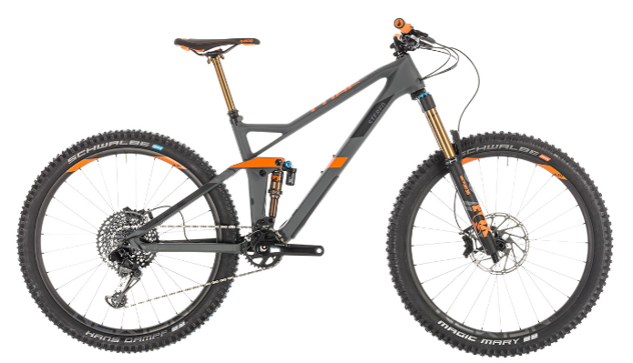"CUBE Stereo 140 HPC TM 27.5 grey'n'orange 2019 ""carry over 2020"""