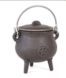 Cast iron Cauldrons • incense • metal work • ritual • altar • shrine