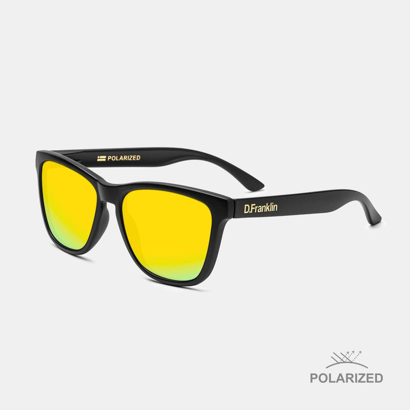 Roosevelt Black Matte / Gold Polarized