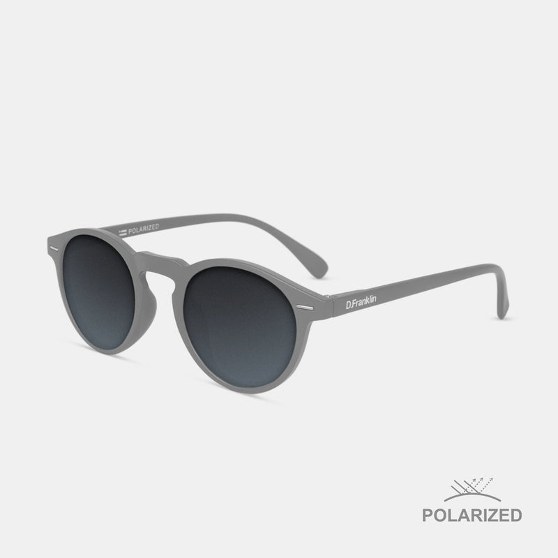 Ultra Light Grey Matte / Black Polarized