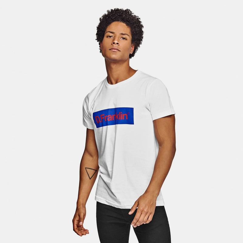 Blue / Red Rec White Tee