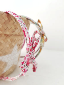 Cerchietto in liberty rosa - Clementineconcept