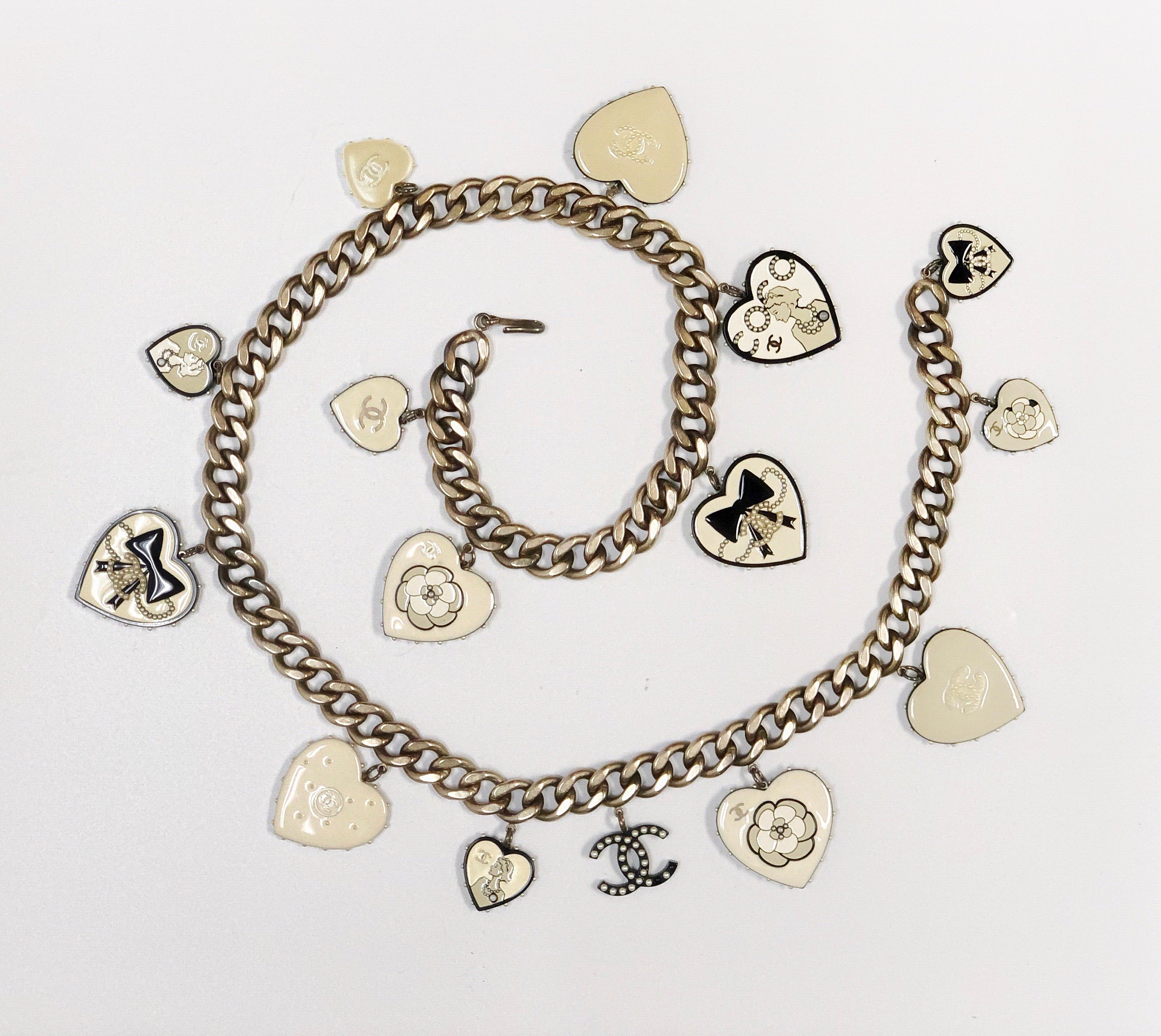 Chanel Heart Charm Belt or Necklace