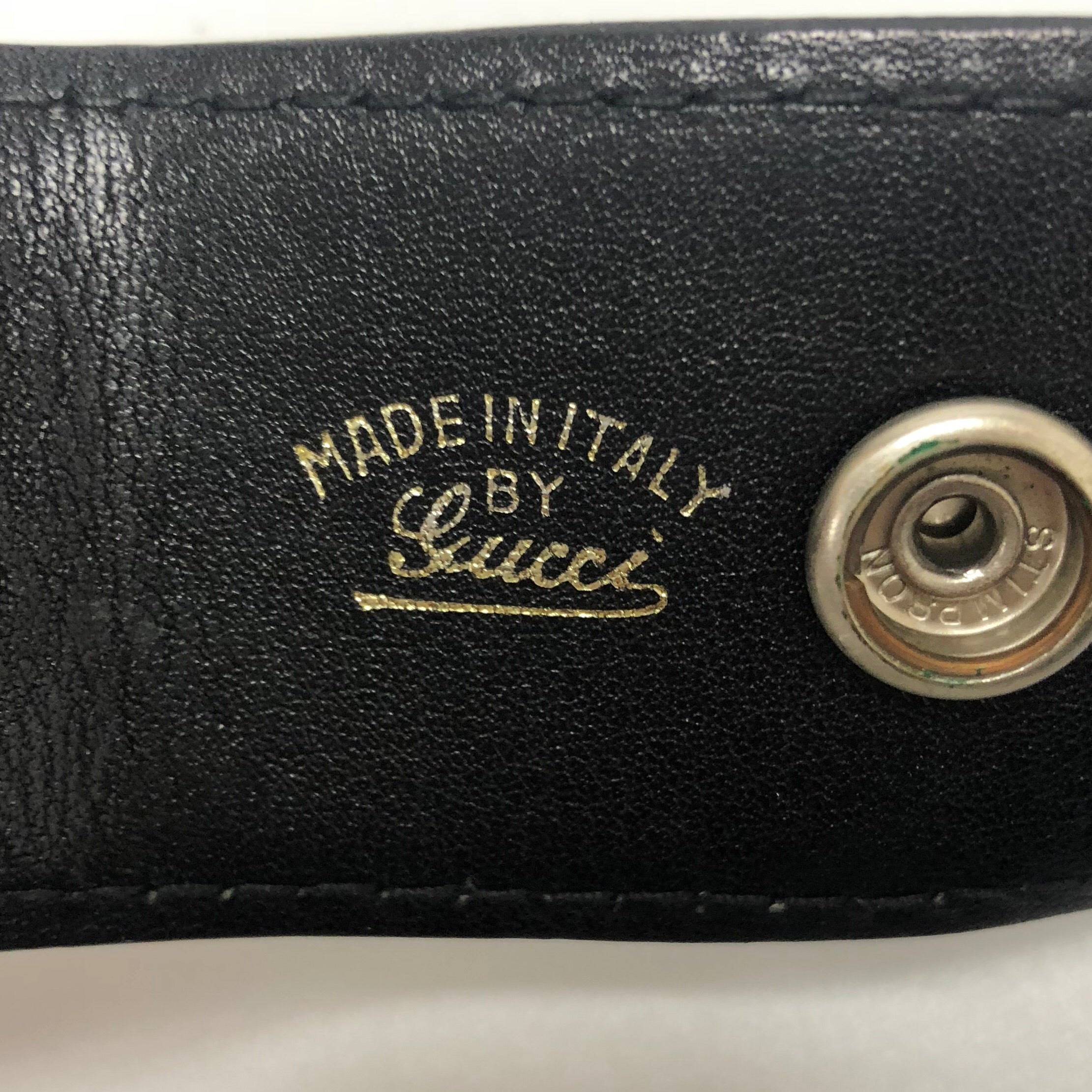 Gucci Vintage Interlocking GG Black Belt