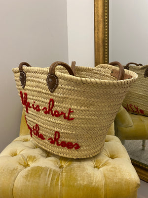 "Poolside ""Buy the Shoes"" Woven Tote"