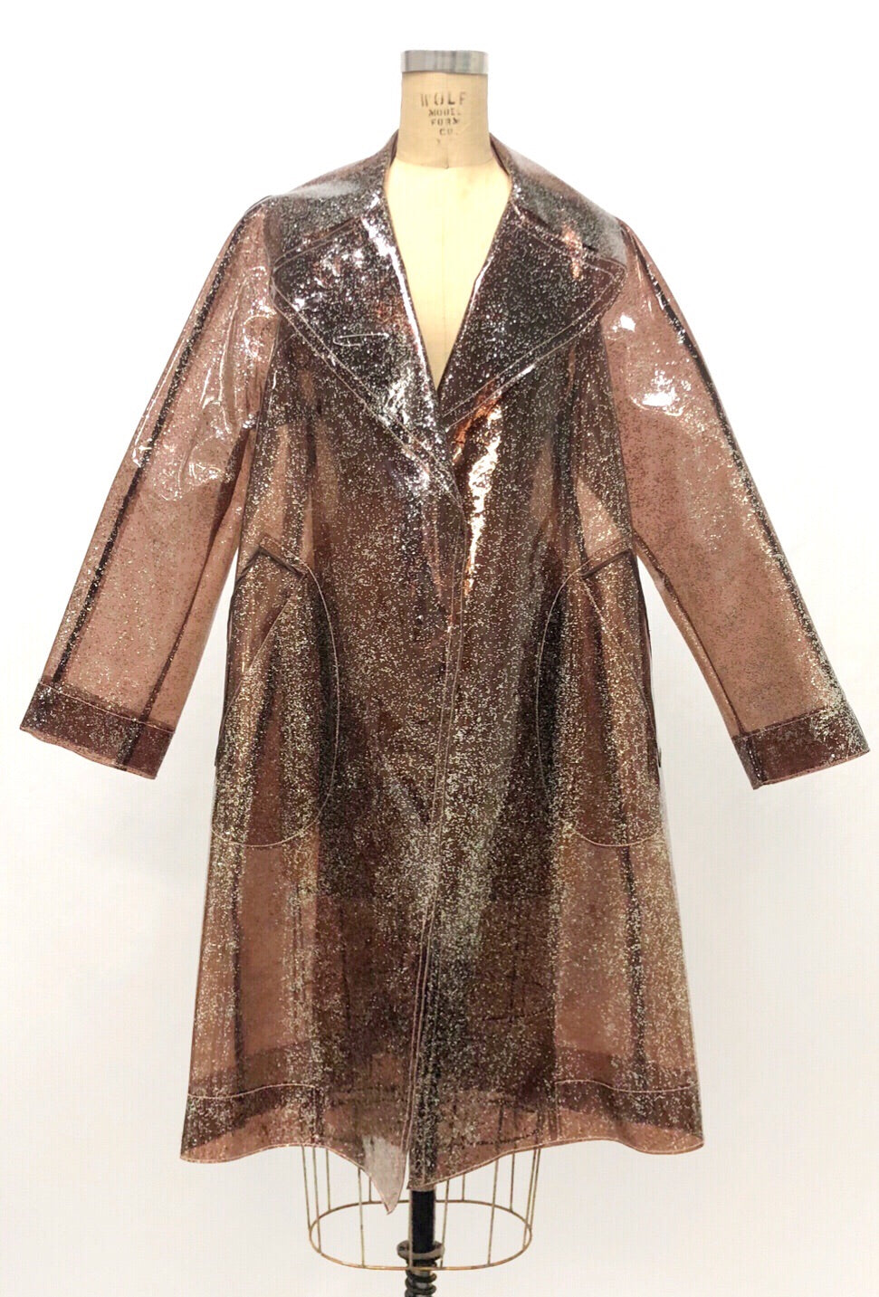 Marc Jacobs 2010 Runway Glitter Raincoat