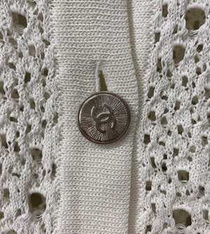 Chanel White Open Knit Cardigan