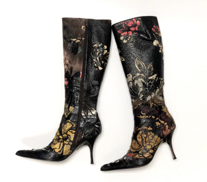 Roberto Cavalli Cut Out Leather Boots