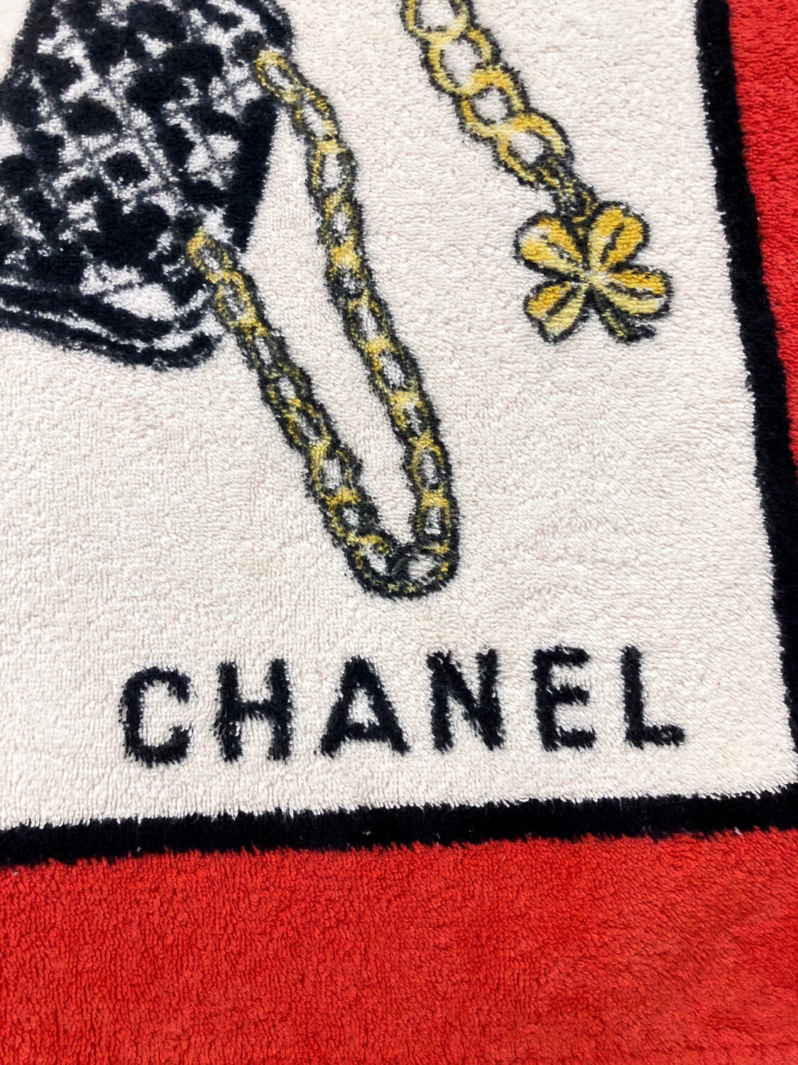 Chanel vintage icon print towels