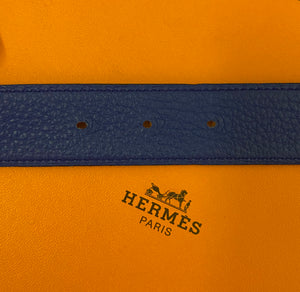 Hermès Gold H Belt Kit Electric Blue & Navy