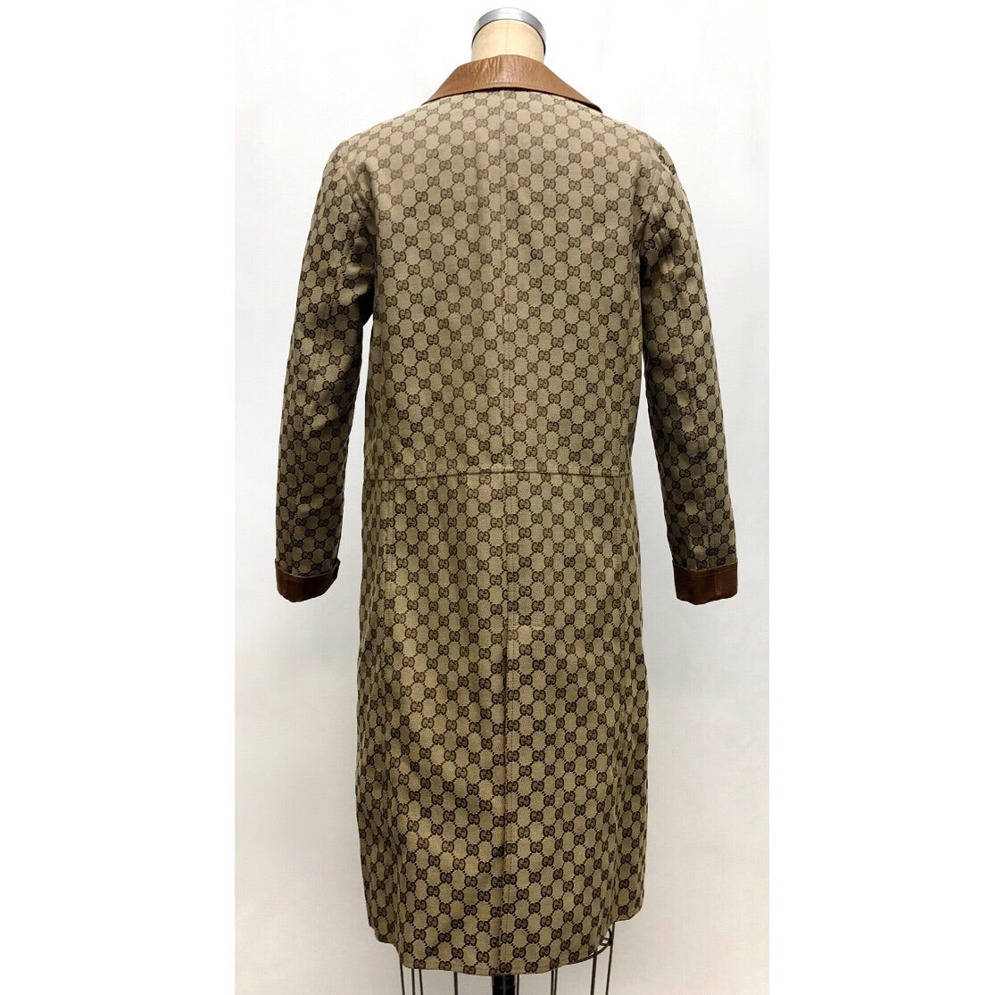 Gucci Vintage Monogram and Leather Coat