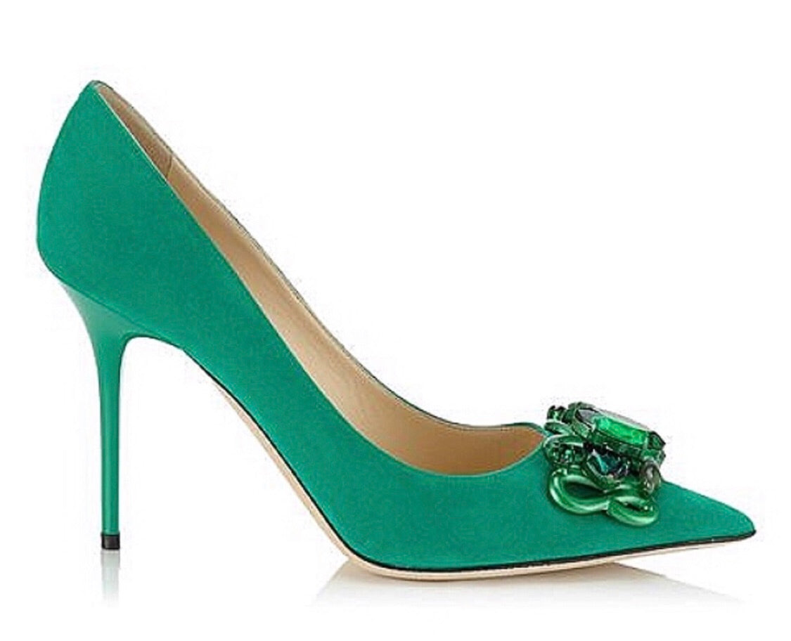 Jimmy Choo Emerald Abel Pumps