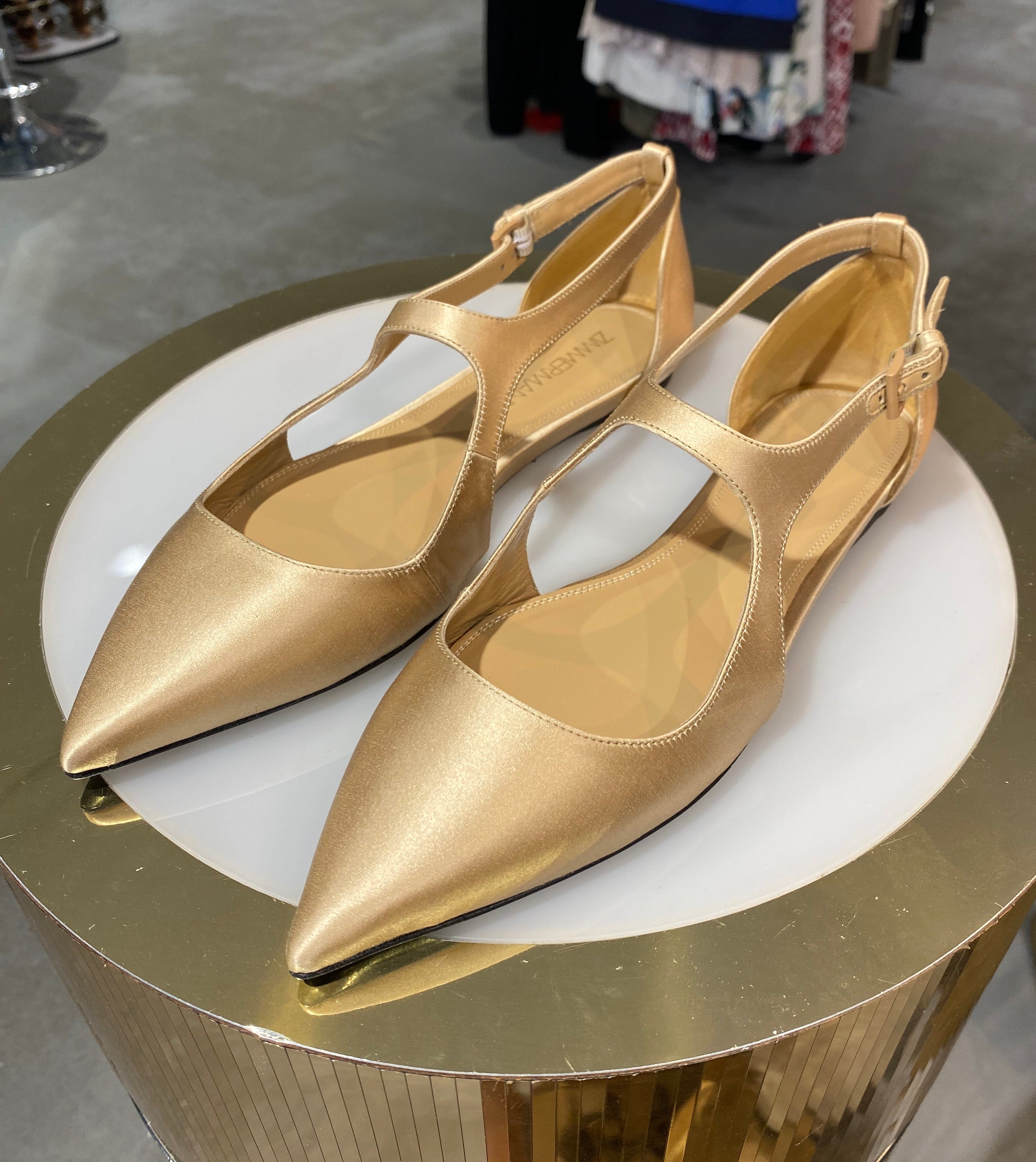 Zimmermann nude pointed toe flat size 38