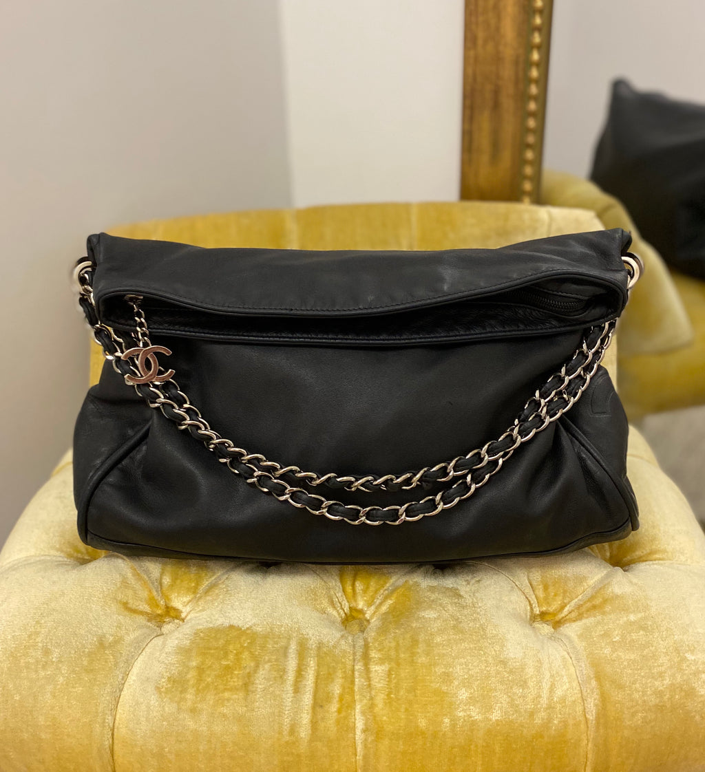Chanel Black Lambskin Ultimate Soft Tote