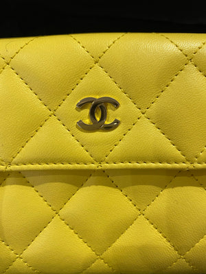 New Chanel yellow wallet