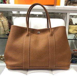Hermès gold Negonda Garden Party tote 36