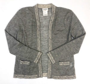 Chanel Vintage Logo Cardigan Set