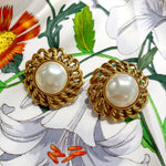Chanel Vintage Pearl Clip Earrings
