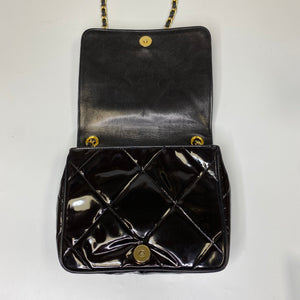 Chanel Vintage Black Patent Mini Bag