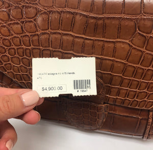 Giorgio's of Palm Beach Brown Alligator Purse