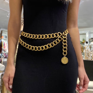 Chanel 93C Gold Chain Belt