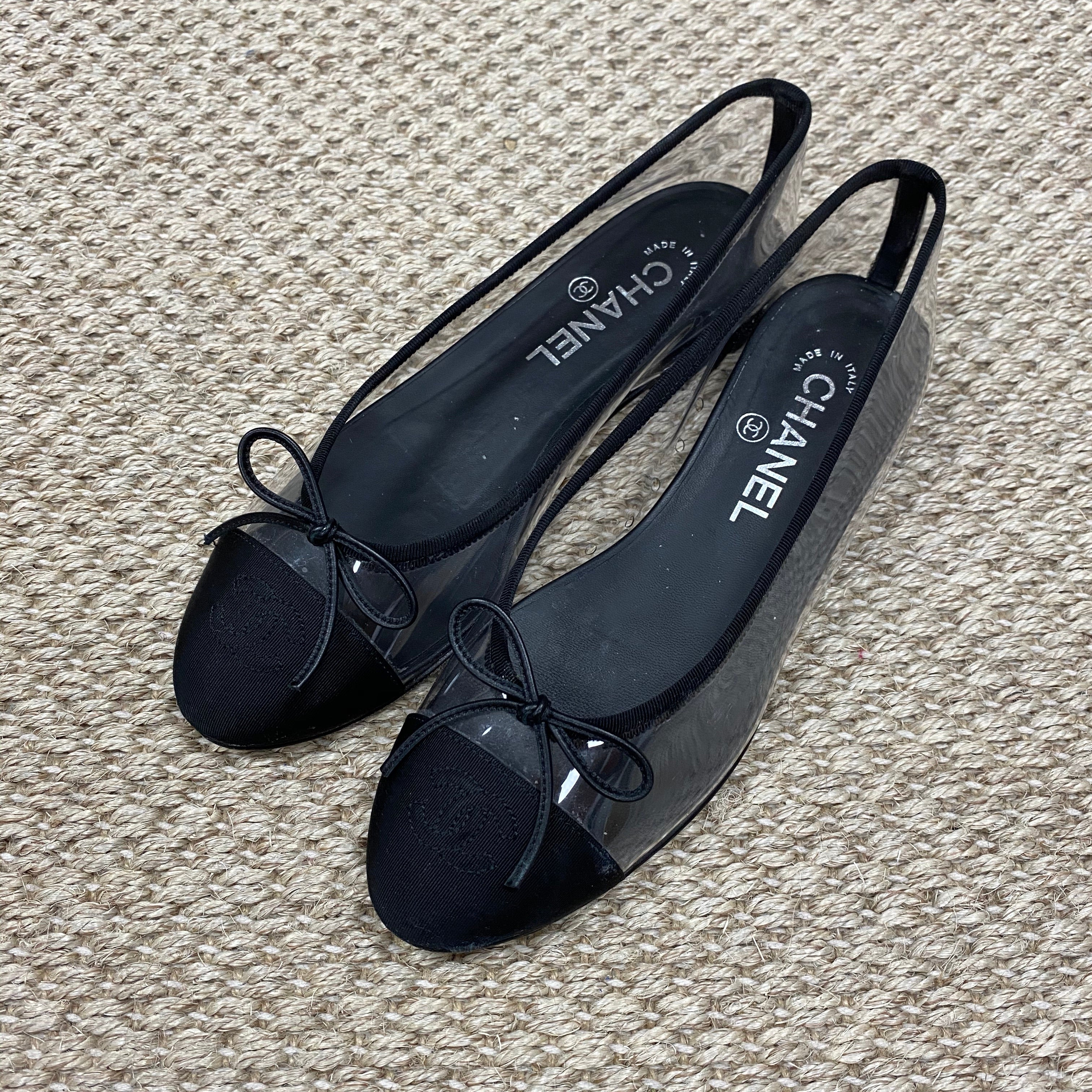 Chanel Clear PVC Ballet Flats