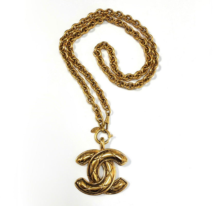 Chanel Vintage Gold CC Necklace