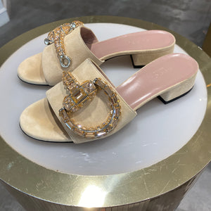 Gucci Crystal Maxime Slide Sandals