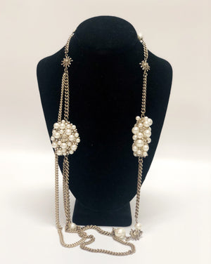 Chanel Pearl Cluster Chain Necklace