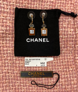 New Chanel No. 5 perfume bottle earrings