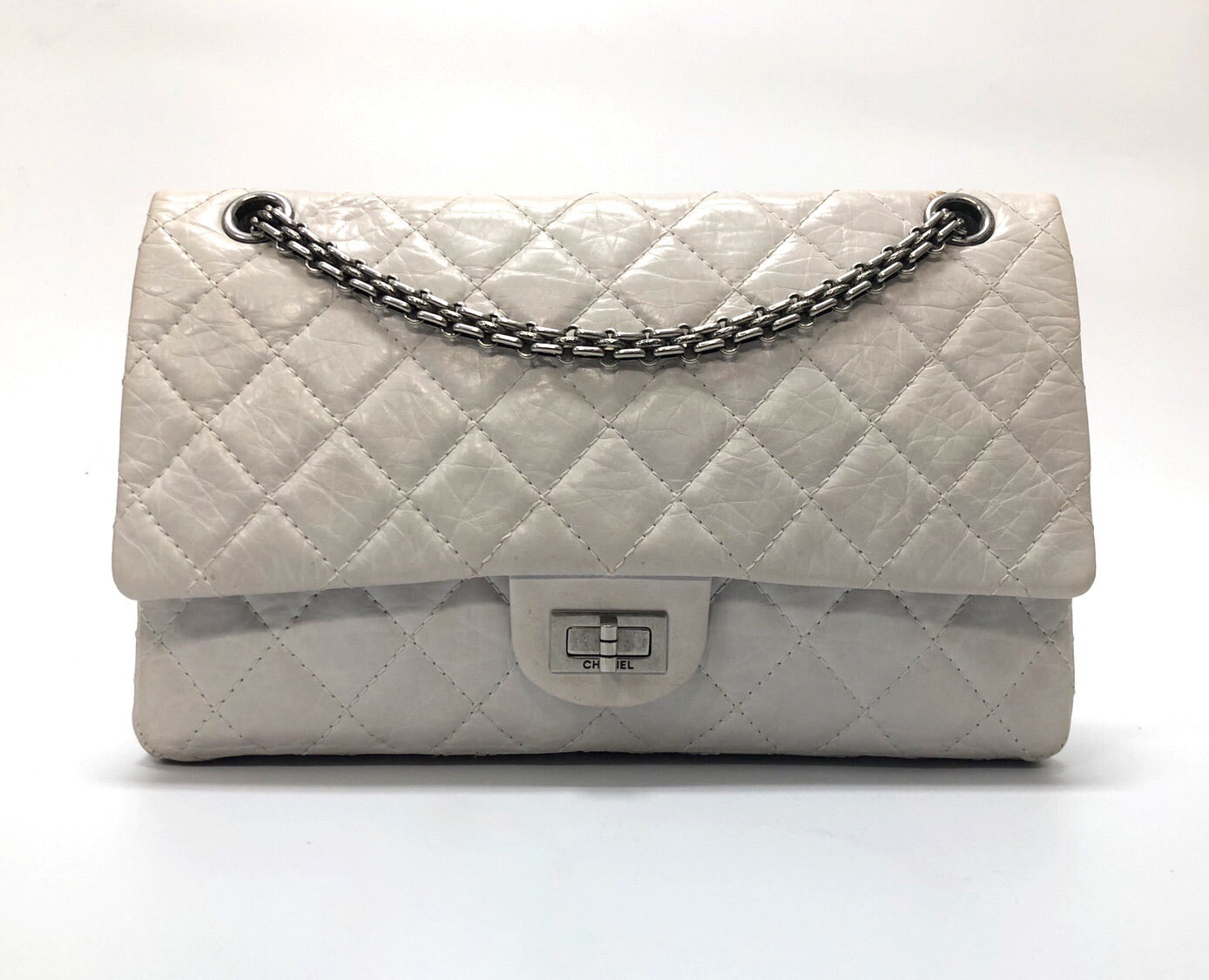 Chanel Aged White Calfskin 50th Anniversary Reissue Bag