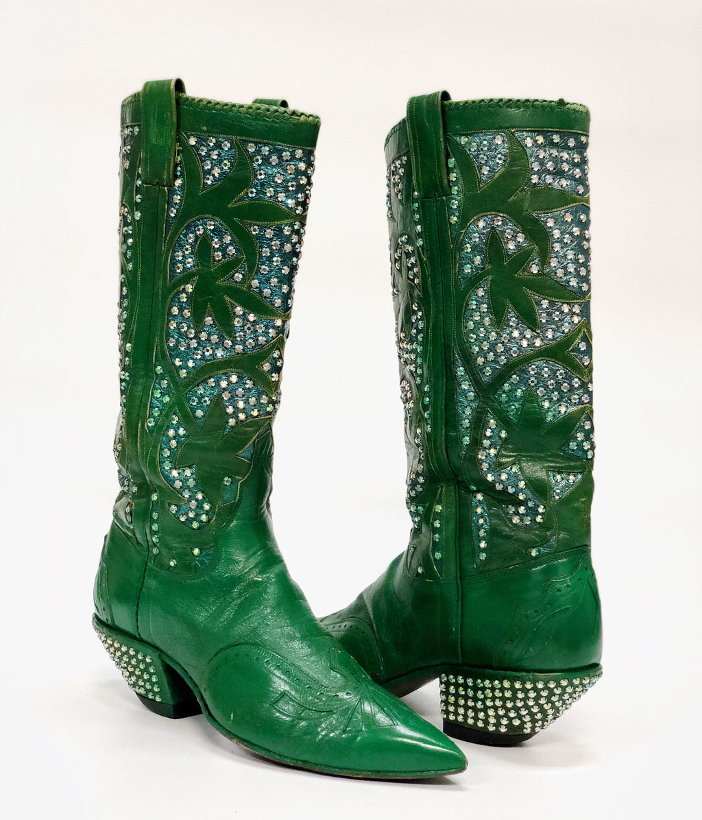 Nudie's Rodeo Tailor Rhinestone Cowboy Boots
