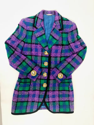 Gianni Versace Purple and Green Blazer