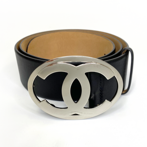 Chanel Silver CC Belt